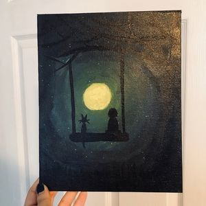 Other - Moonlight canvas acrylic painting wall home art